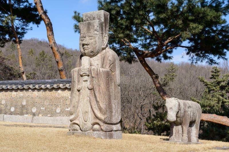 Estatuto de piedra coreano imágenes de archivo libres de regalías