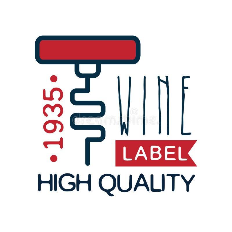 Estd 1935, logo d'annata del prodotto di qualità, elemento dell'etichetta del vino di progettazione per il menu, pacchetto di log royalty illustrazione gratis