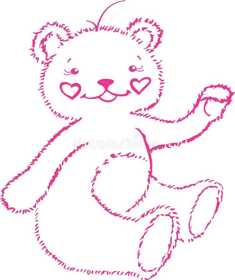 Este é carregar-filhote cor-de-rosa ilustração stock