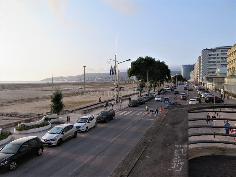 Este é o beira-mar de Figueira da Foz - Portugal fotografia de stock