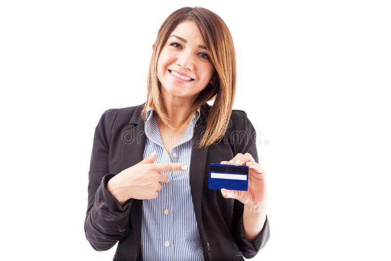 Este é o cartão de crédito direito para você fotografia de stock royalty free