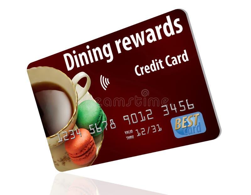 Este é um cartão de crédito de jantar das recompensas É genérico e isolado em um fundo branco ilustração stock