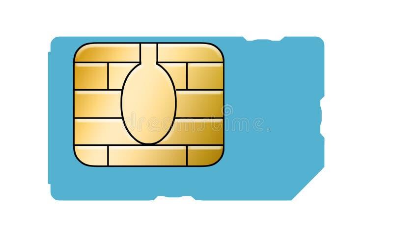 Este é um cartão genérico do sim para um telefone celular ilustração do vetor