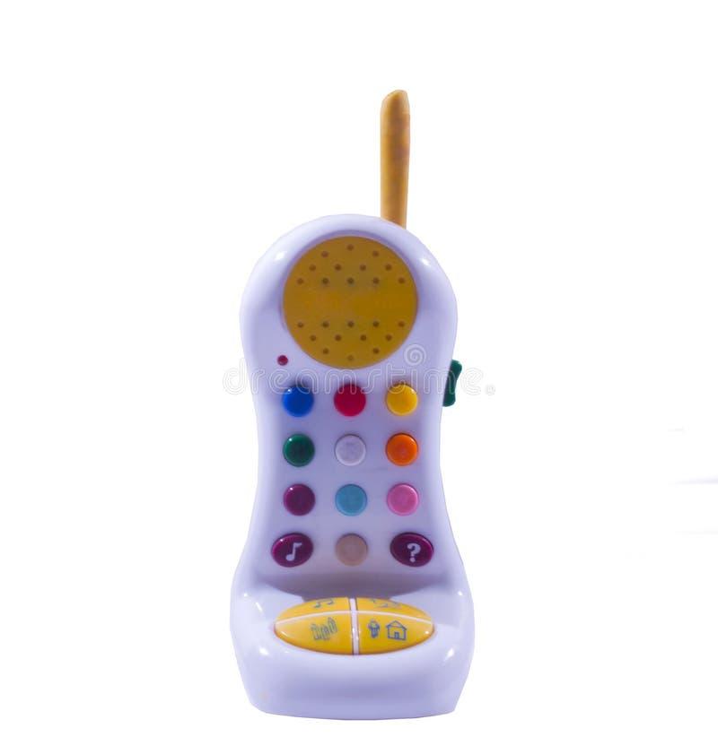Este é um telefone plástico. foto de stock royalty free