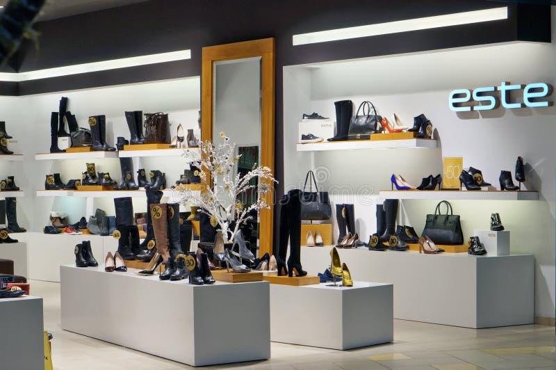 Este-Auslese-Schuhspeicher stockbilder