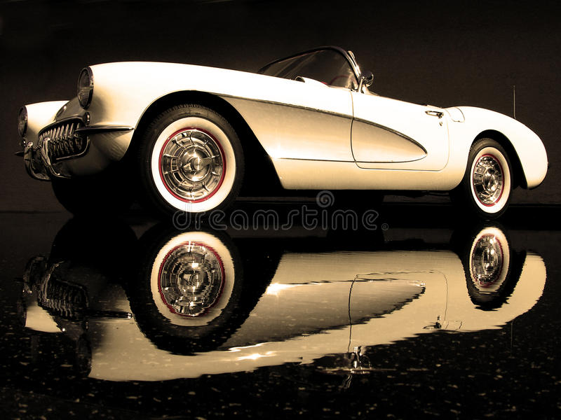 Este Chevrolet Corvette 1957 foto de archivo libre de regalías