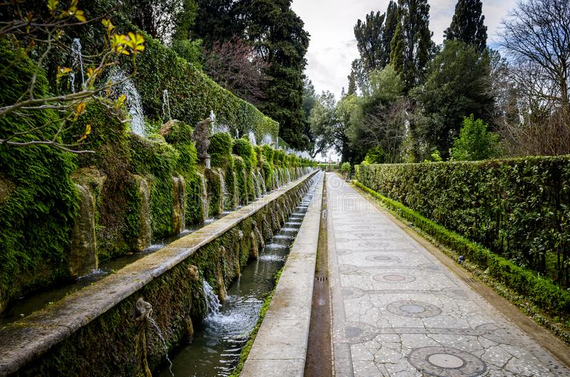 ` Este della villa d in Tivoli, Roma L'Italia immagine stock