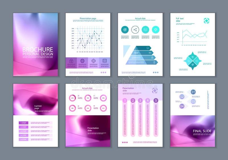 Este folleto es el mejor como presentación del negocio, usada en el márketing y la publicidad libre illustration