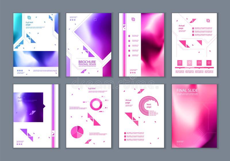 Este folleto es el mejor como presentación del negocio, usada en el márketing y la publicidad stock de ilustración