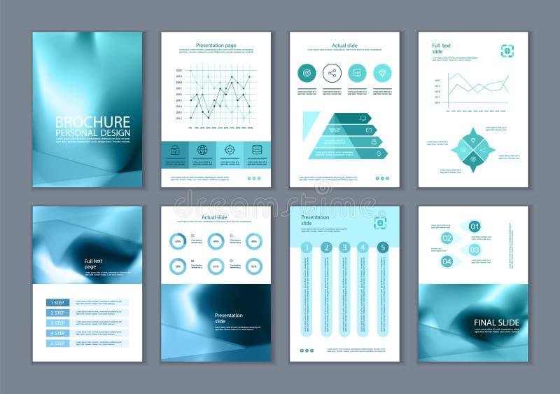 Este folleto es el mejor como presentación del negocio, usada en el márketing y publicidad, aviador y bandera libre illustration