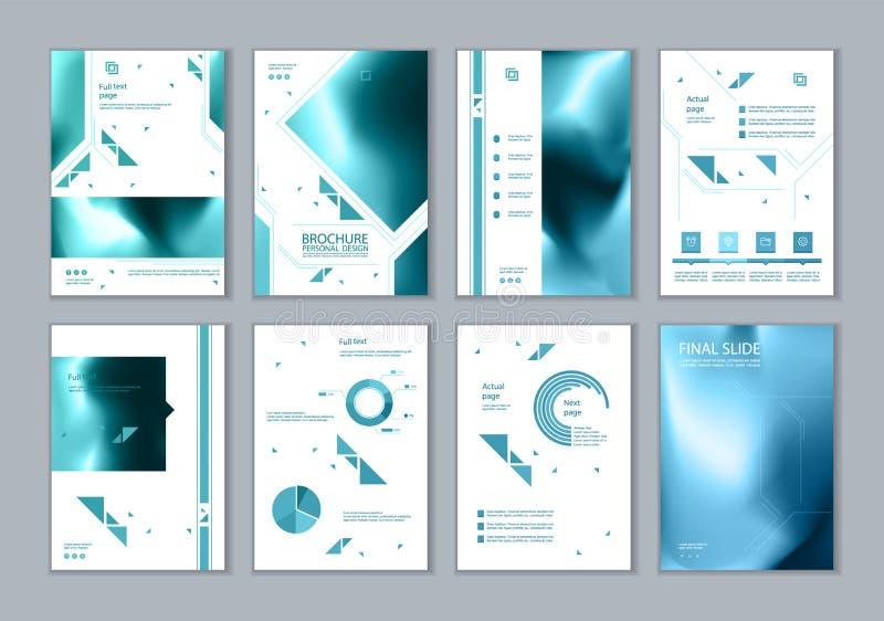 Este folleto es el mejor como presentación del negocio, usada en el márketing y publicidad, aviador y bandera stock de ilustración