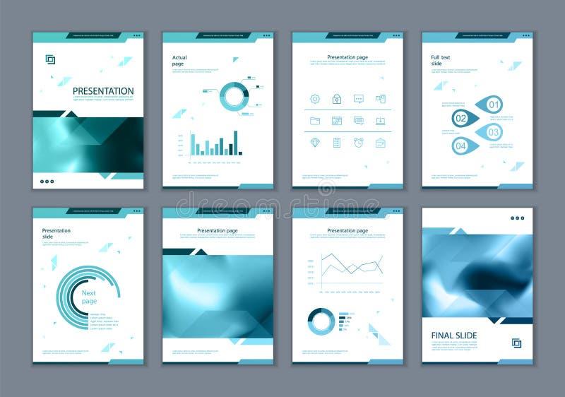 Este folleto es el mejor como presentación del negocio, usada en el márketing y publicidad, aviador y bandera ilustración del vector
