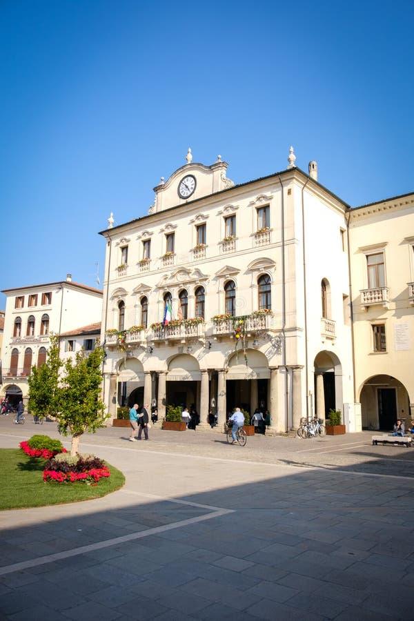 Este Italië Palazzo del Municipio stock foto