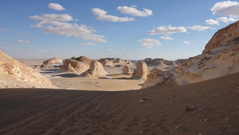 Este lugar se llama 'la puerta al desierto blanco ' fotografía de archivo
