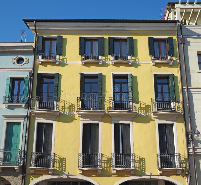 Este, Padova, Италия Главная площадь и свои венецианские здания стиля стоковое изображение rf