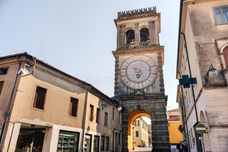 Este Padua der Turm nannte della Porta Vecchia Torre Civica lizenzfreies stockbild
