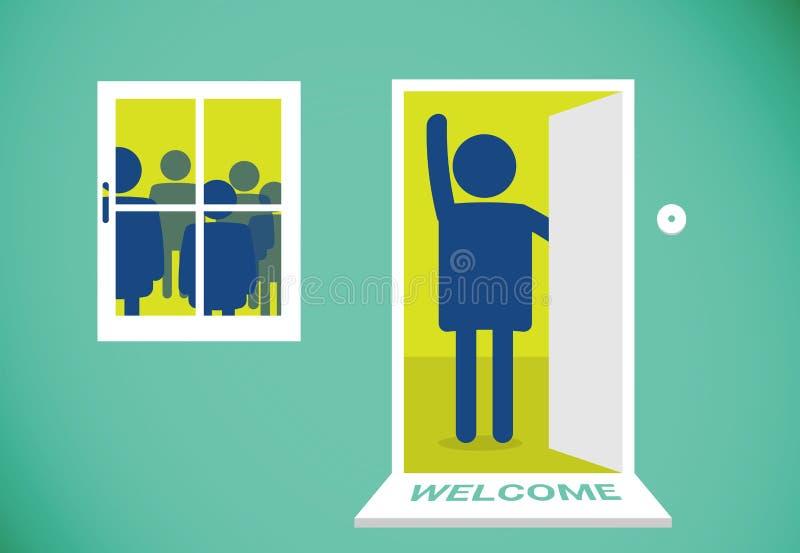 Esteira bem-vinda ilustração royalty free