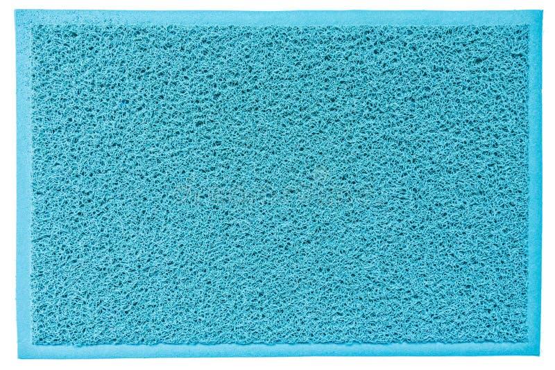 Esteira bem-vinda da fibra azul com espaço da cópia foto de stock royalty free