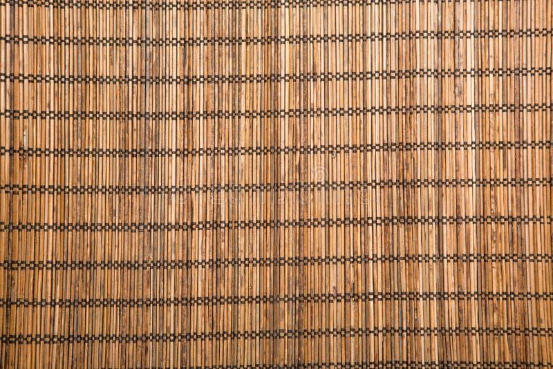 esteira de bambu marrom fotos de stock royalty free