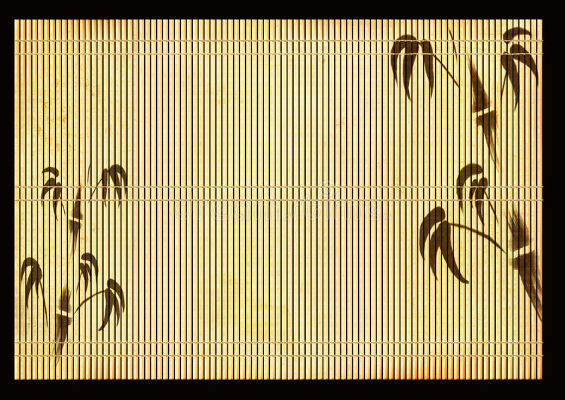 Esteira de lingüeta japonesa antiga ilustração do vetor