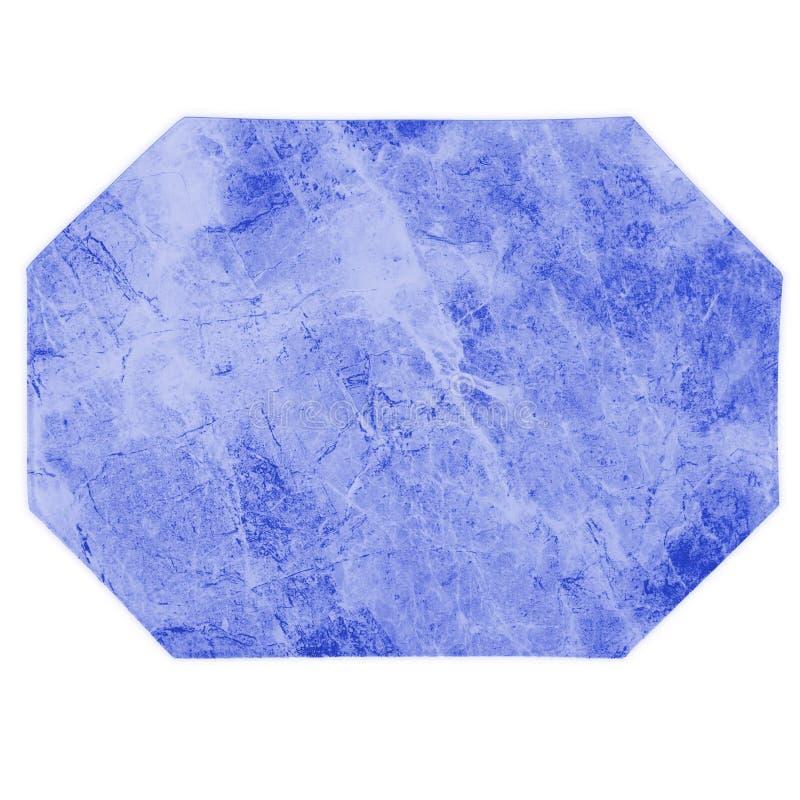Esteira de lugar azul de mármore da cozinha fotografia de stock royalty free