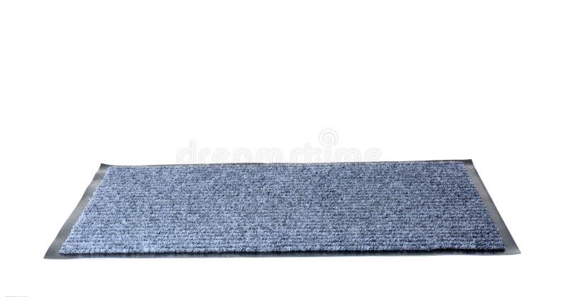 Esteira de porta cinzenta moderna isolada no branco imagens de stock