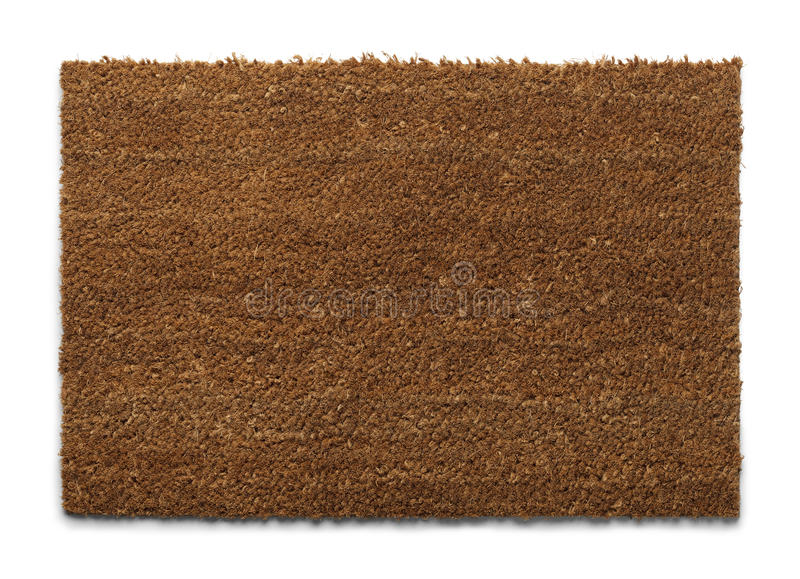 Esteira de porta de Brown foto de stock