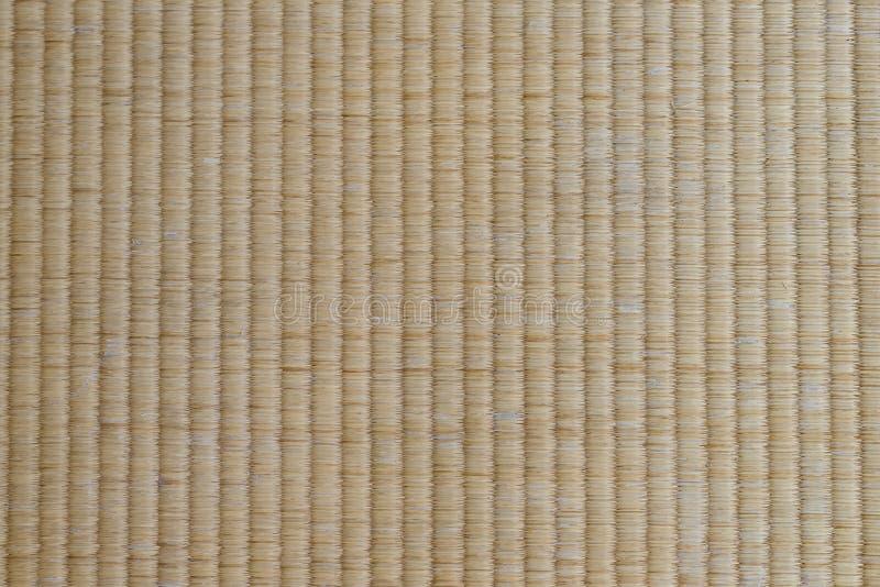 Esteira de Tatami do close-up - tradicional japonês material da textura e de fundo para o projeto imagens de stock