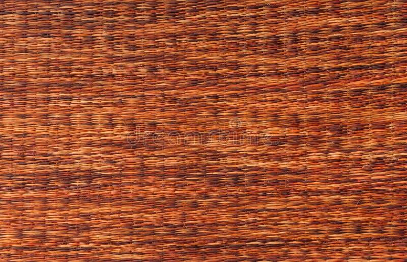 a esteira handcraft a textura do weave do rattan para o fundo fotos de stock