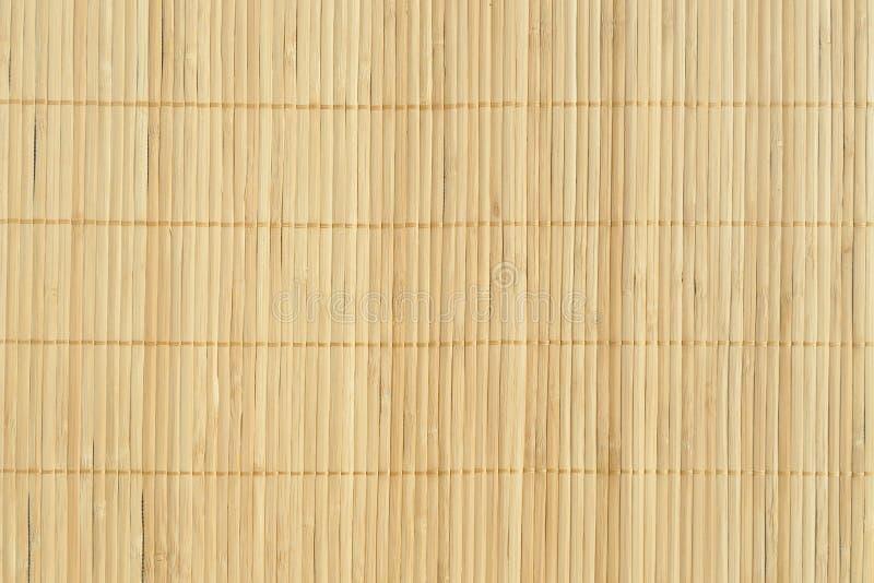 Esteira marrom de bambu da palha como o compositio abstrato do fundo da textura imagem de stock