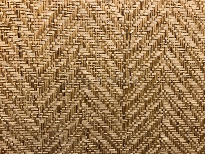 Esteira natural do bambu do weave da cor de Brown imagens de stock royalty free