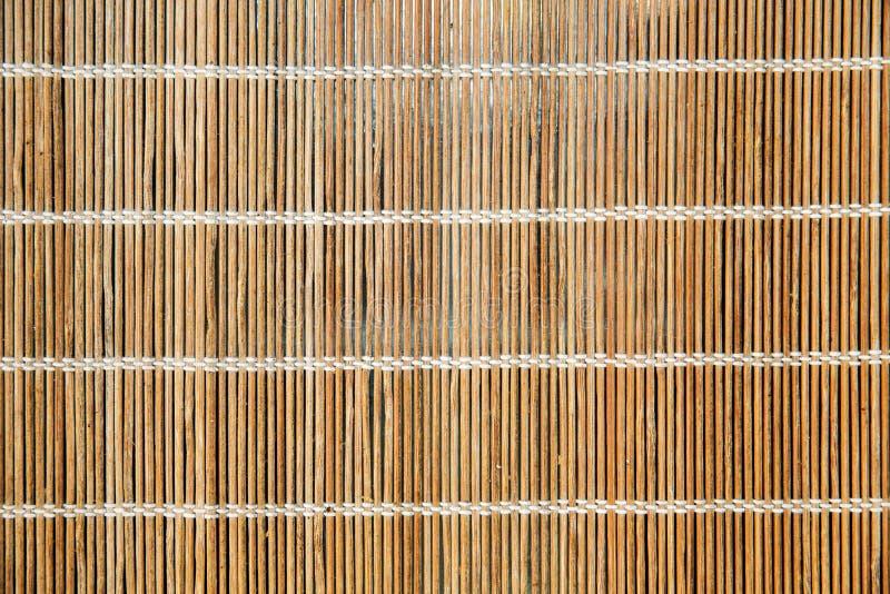 Esteira ou makisu de bambu natural fotografia de stock royalty free