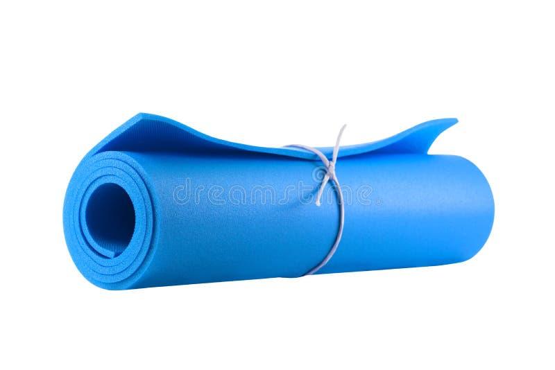 Esteira para a aptidão, a ioga e os pilates isolados no branco fotografia de stock royalty free