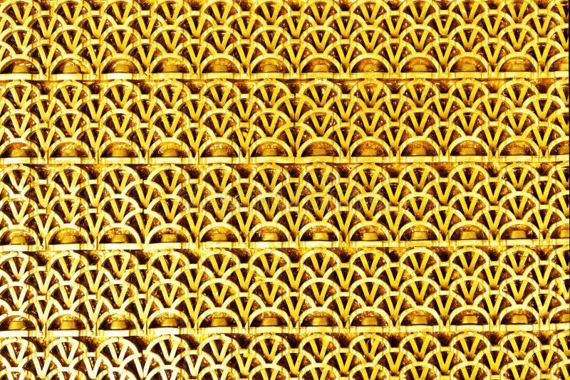 Esteira textured de borracha da cor dourada fotos de stock royalty free