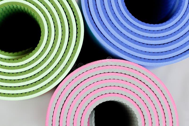 Esteiras da ioga imagem de stock royalty free