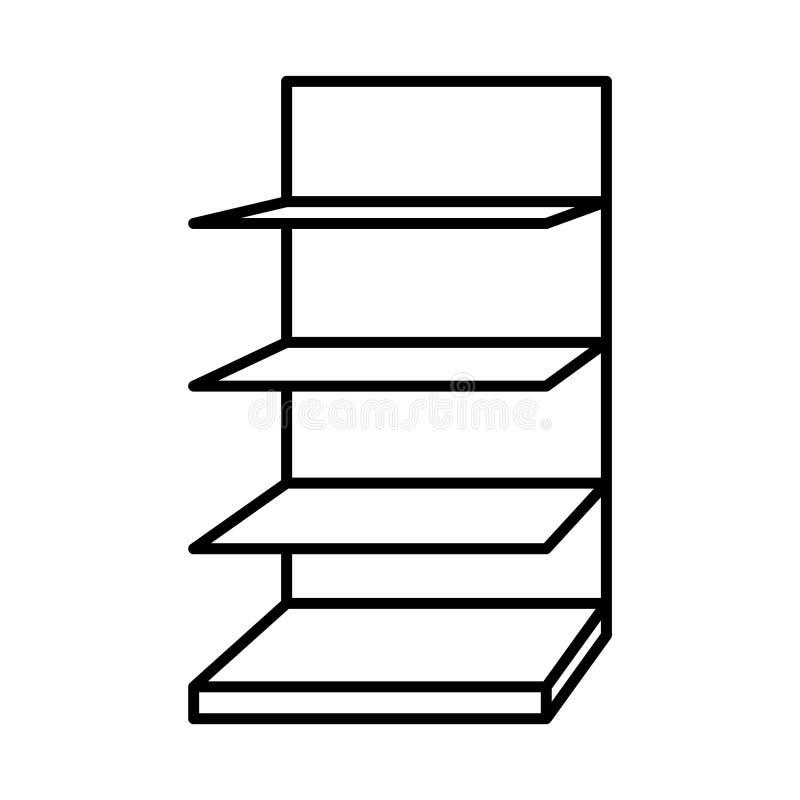 Esteja ou indique o ícone, ícone da prateleira, ilustração do vetor ilustração do vetor