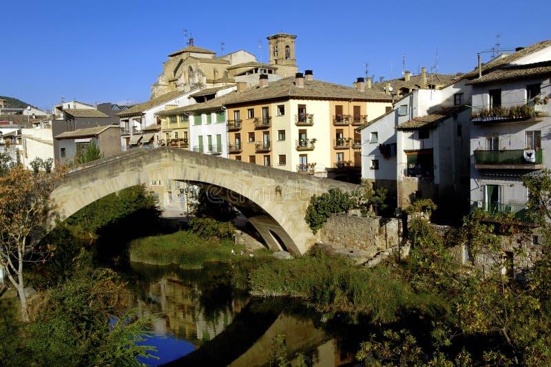 Estella Lizarra, Navarra, Spanien arkivbilder