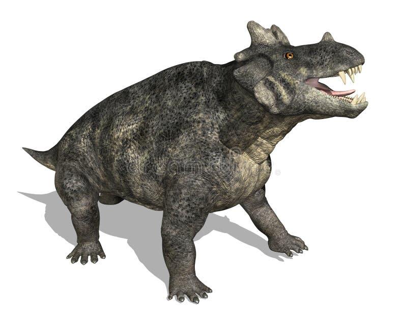 Estemmenosuchus Dinosaur. The Estemmenosuchus dinosaur (therapsid) lived during the Middle Permian period - 3d render royalty free illustration