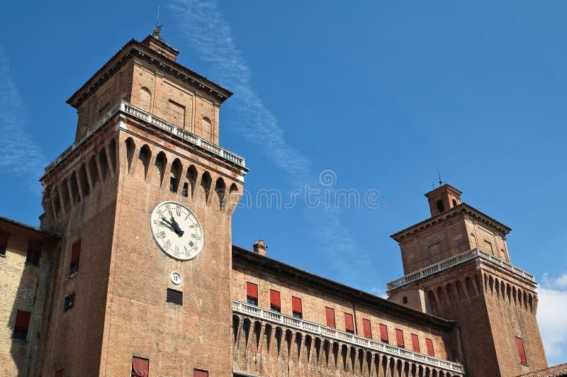 Estense城堡。 费拉拉。 伊米莉亚-罗马甘。 意大利。 库存图片