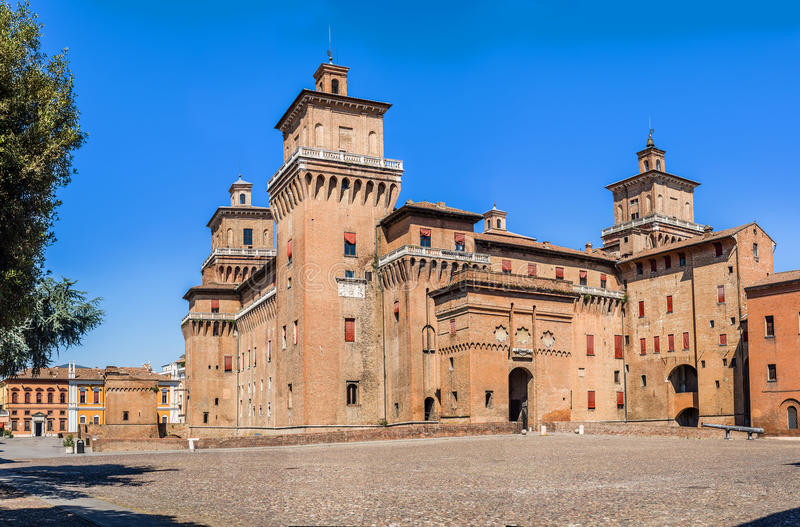 Estense Castle της φερράρα Αιμιλία-Ρωμανία Ιταλία στοκ εικόνα