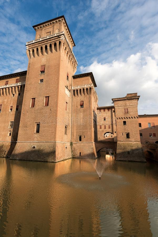 Estense Castle - φερράρα Αιμιλία-Ρωμανία - Ιταλία στοκ φωτογραφίες