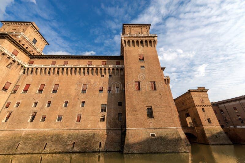 Estense Castle - φερράρα Αιμιλία-Ρωμανία - Ιταλία στοκ φωτογραφία με δικαίωμα ελεύθερης χρήσης