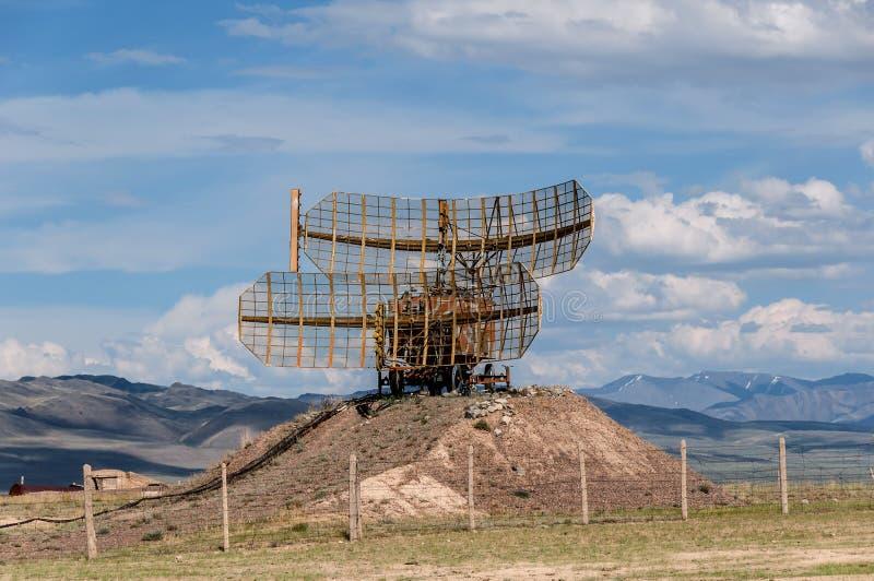 Estepa militar de la montaña del radar foto de archivo libre de regalías