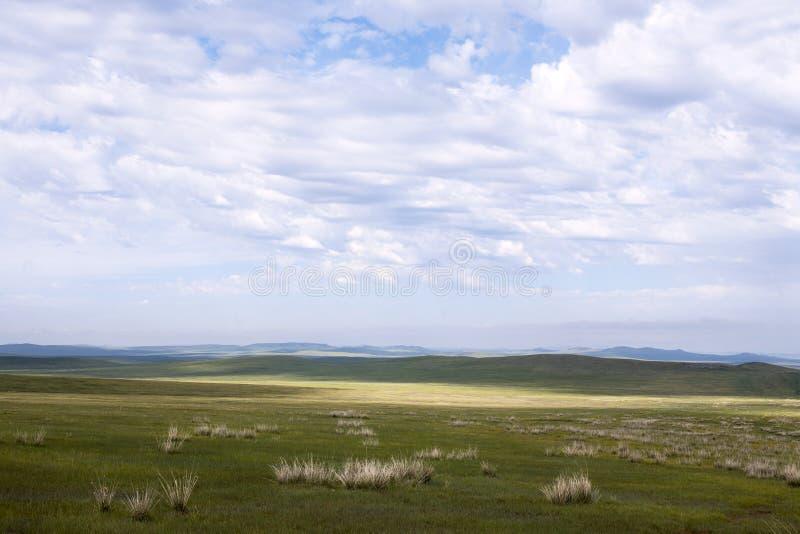 Estepes do Mongolian fotos de stock