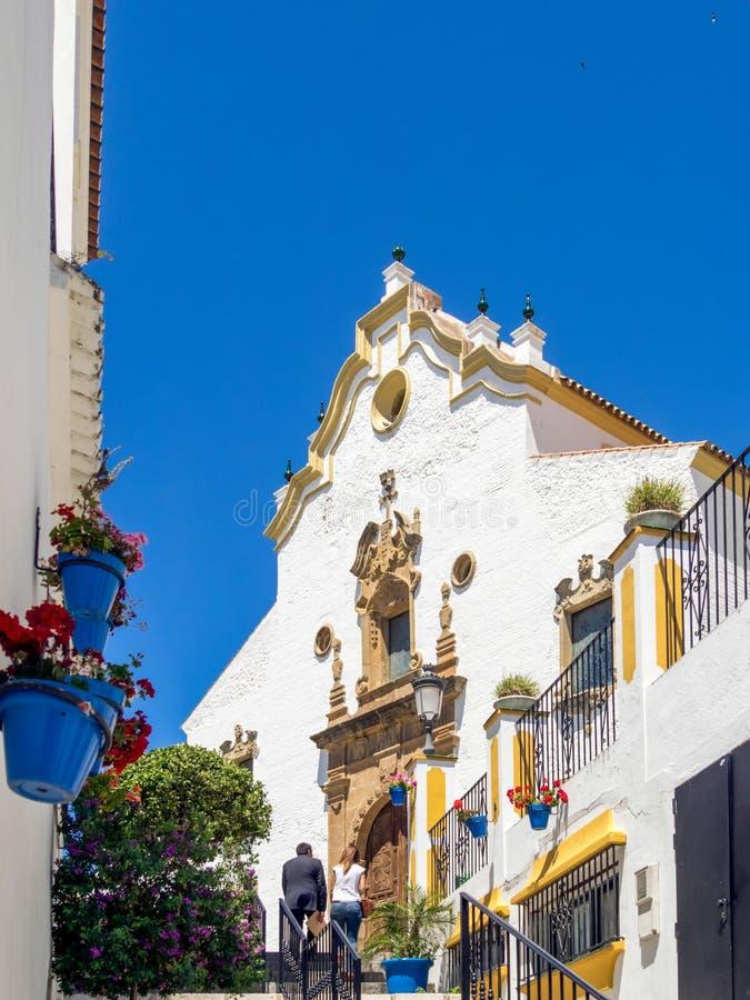 ESTEPONA, ANDALUCIA/SPAIN - 5 ΜΑΐΟΥ: Εκκλησία Nuestra Senora de στοκ εικόνα