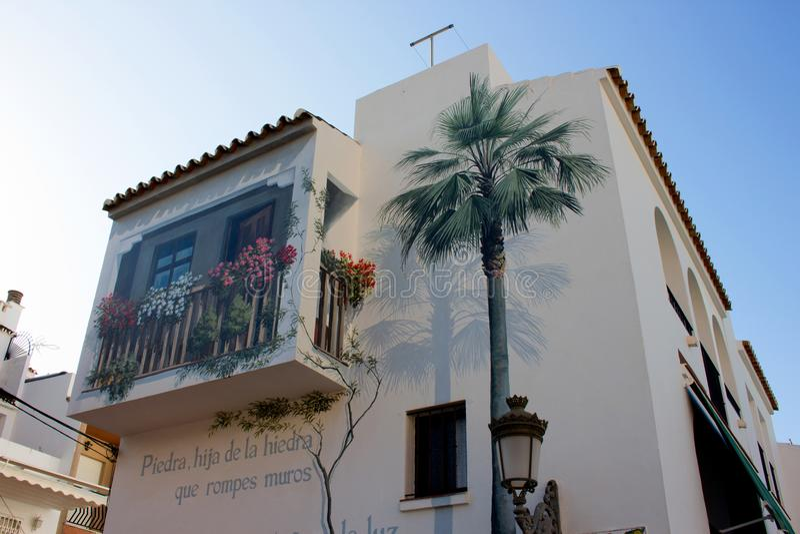 Estepona stad royalty-vrije stock afbeeldingen