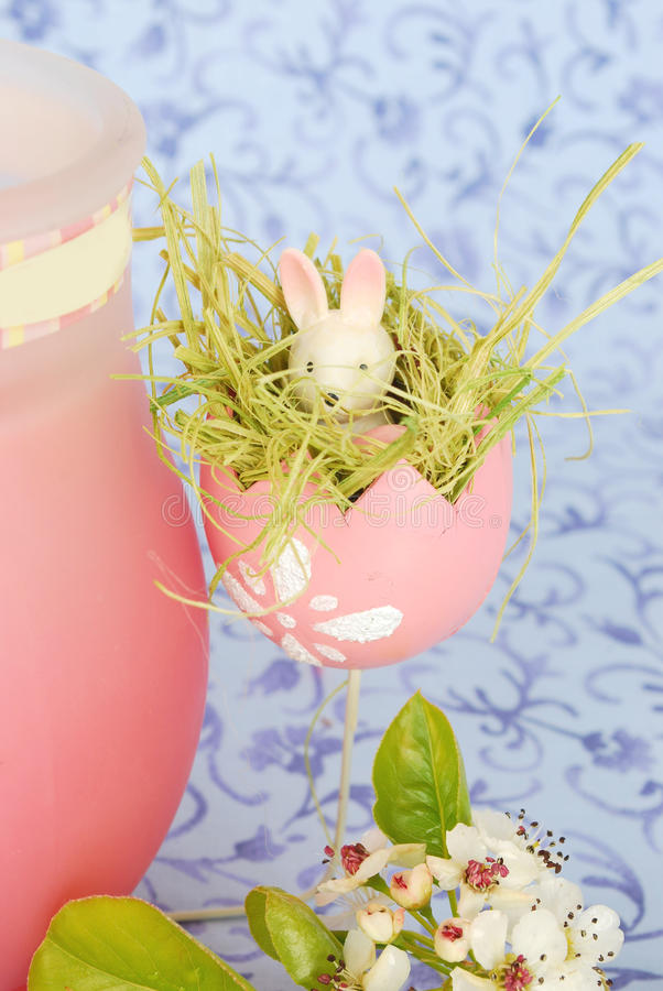 Ester composition with Easter egg royalty free stock photos