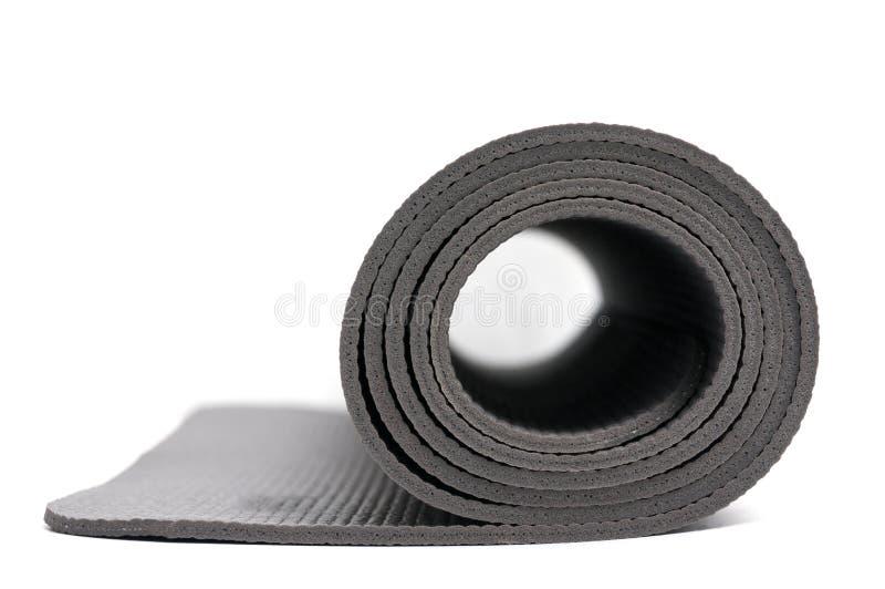Download Estera acortada de la yoga imagen de archivo. Imagen de aislado - 64209795