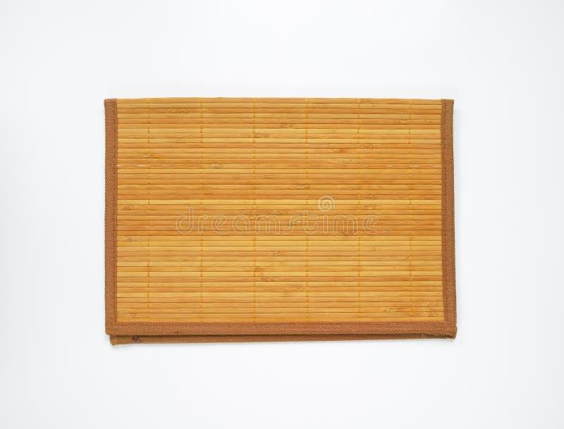 Estera de lugar de bambú fotografía de archivo libre de regalías