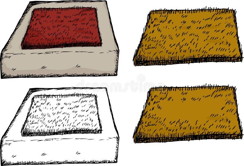 Estera de puerta aislada en el paso de progresión stock de ilustración